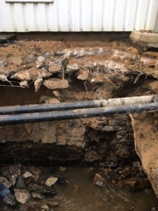 Collapsed culvert during repare work(2)
