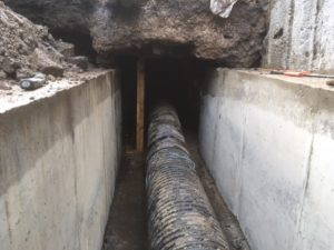 New Shuttered Concrete Culvert Walls