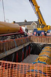 Primrose Garage tanks going in (3)