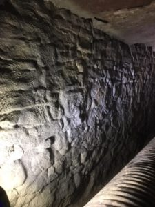 Spray-grouted-stone-culvert-wall